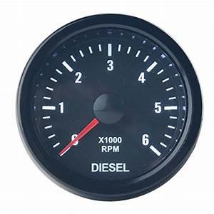 Dewhel Universal 52mm 2 U0026quot  Vision Black Diesel 6k Speed Rpm 6000