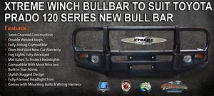 Xtreme Winch Bullbar To Suit Toyota Prado 120 Series New Bull Bar