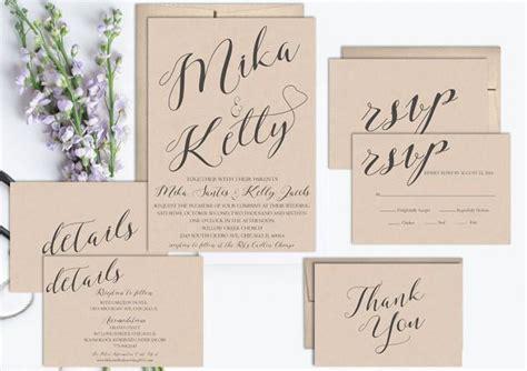 Rustic Wedding Invitation Printable, Wedding Invitation