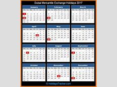 Dubai Mercantile Exchange DME Holidays 2017 – Holidays