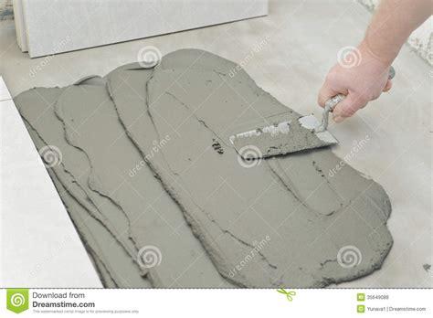 thin set mortar for porcelain tile laying ceramic tiles royalty free stock photos image