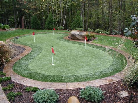 Backyard Artificial Putting Green by Synthetic Putting Greens Are Not Complicated To Install