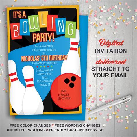 einladungen kindergeburtstag bowling einladungskarten