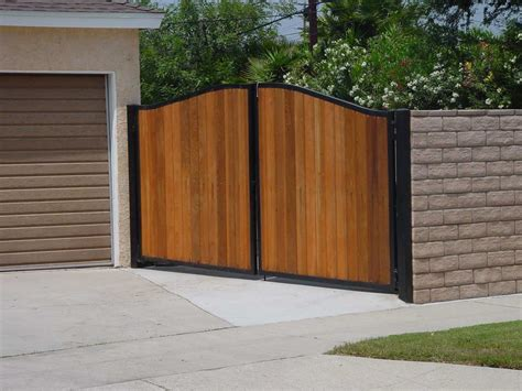 wood fences and gates metal and wood fence ideas ideas with ideas combine block wall metal fence ehow block walls