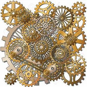 Clockwork clipart steampunk gear - Pencil and in color ...