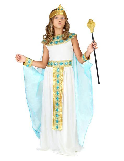 kleopatra kinderkostuem aegypterin kostuem weiss gold blau