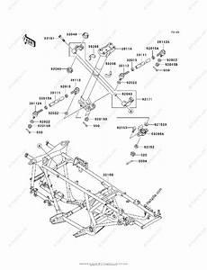 Kawasaki Atv 2002 Oem Parts Diagram For Frame