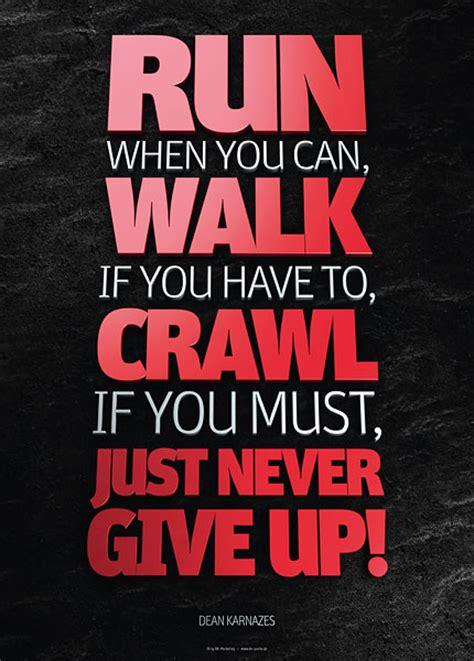 Motivationsposter Dean Karnazes  Run When You Can, Walk