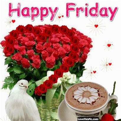 Friday Happy Morning Flowers Gifs Hearts Tgif