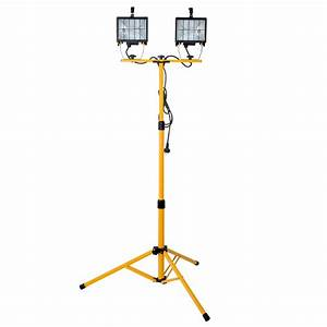 Arlec w halogen worklight with tripod bunnings warehouse