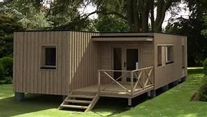 Habitats modulaires for Maison bois sur plots 6 habitats modulaires