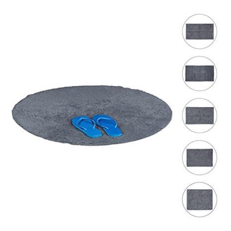 relaxdays 10020433 563 tapis de bain coton gris