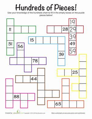 hundreds chart challenge  images math number sense