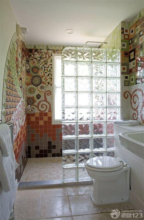 sj home interiors 混搭风格家装卫生间玻璃砖隔断设计图片 设计456装修效果图