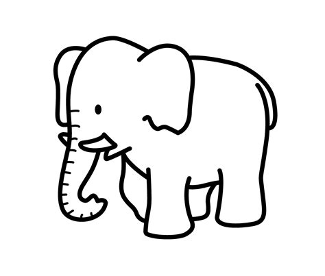 cartoon elephant animals coloring pages  kids