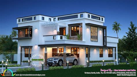 Kerala Home Design Architecture House Plans by Beautiful Sq Ft Home Kerala Home Design Floor Plans