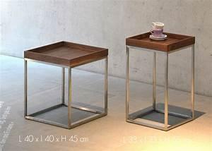 Table D Appoint Haute : table d 39 appoint en bois design et de haute qualit chez ~ Nature-et-papiers.com Idées de Décoration