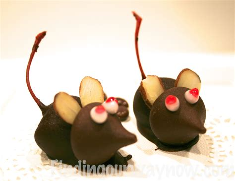 chocolate cherry mice candy recipe finding