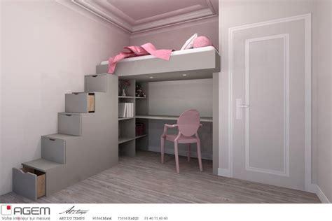 chambre fille lit mezzanine lit mezzanine sur mesure du temps photo n 73 domozoom