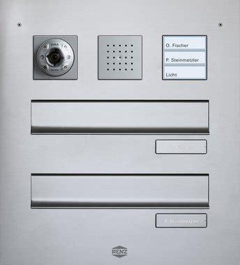 haustürklingel mit sprechanlage gira t 252 rsprechanlage in briefkastenanlagen designvarianten