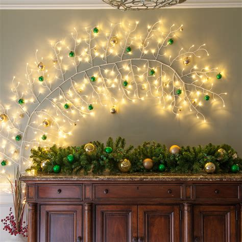 white climbing vine lighted branches  warm white led
