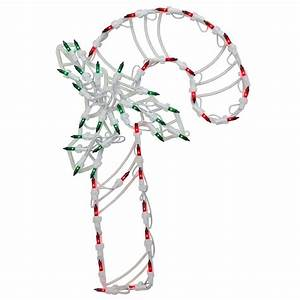 Northlight, 18, In, Led, Lighted, Candy, Cane, Christmas, Window, Silhouette, Decoration, 4