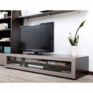 Meuble De Tele Design : meuble tv design lumineux chocolat et taupe achat vente meuble tv meuble tv design symbiosis ~ Teatrodelosmanantiales.com Idées de Décoration