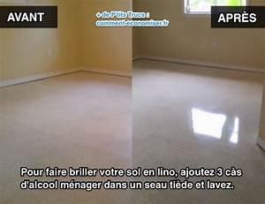 l39astuce pour faire briller votre sol en lino instantanement With comment nettoyer sol carrelage tres sale