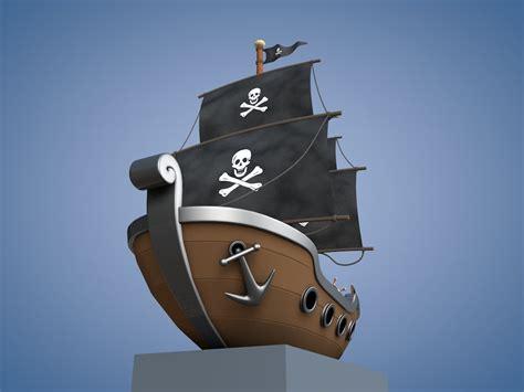 Cartoon Boat C4d by C4d Cartoon Pirate Ship