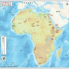 African Deserts Map Desert And Forestsrhgeographicguidecom Africa ...