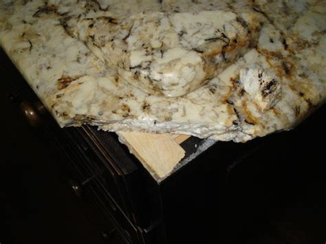 bathroom   How can I repair a granite countertop where