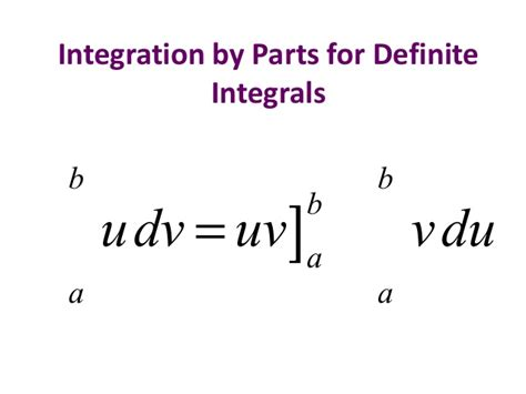 82 Integration By Parts