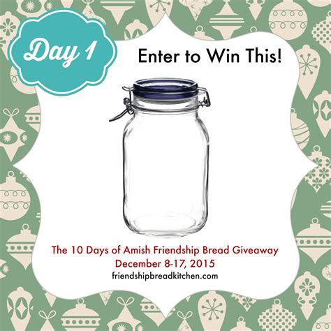 Day 1 Of The 10 Days Of Amish Friendship Bread Giveaway  Make Your Starter