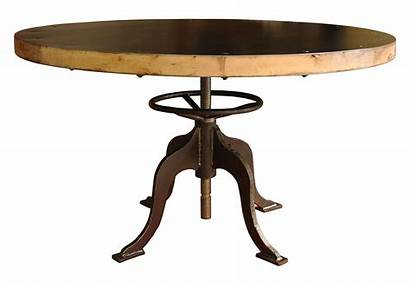 Table Round Dining Clipart Clip Wood Metal
