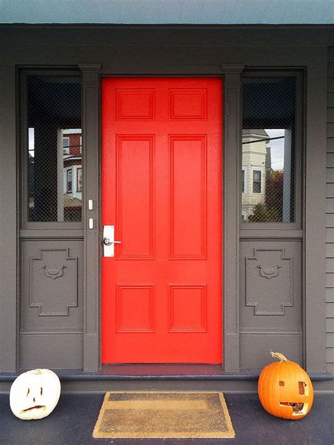 vermillion front door orange front doors red door house