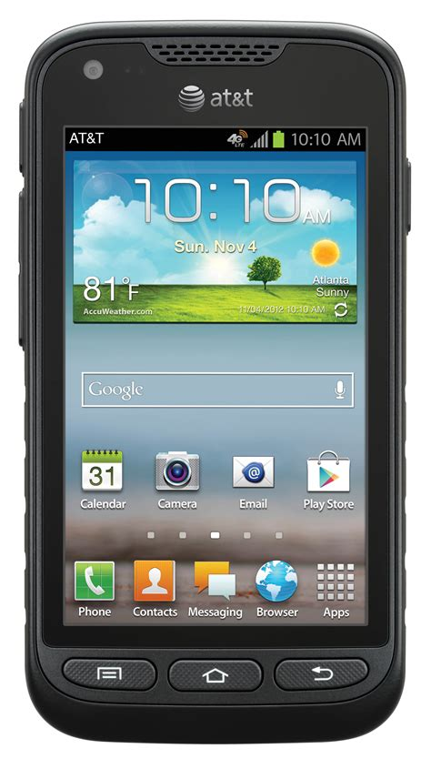 used android phones samsung galaxy rugby pro rugged android pda phone att