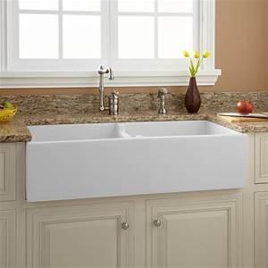 39, U0026quot, Risinger, Double-bowl, Fireclay, Farmhouse, Sink, -, White