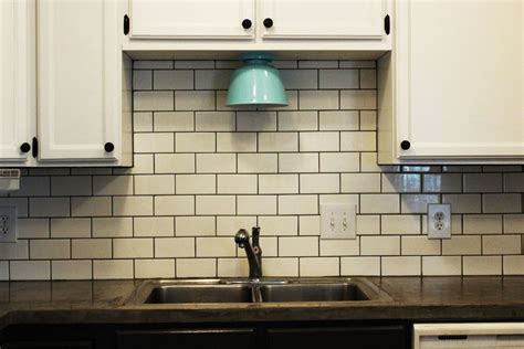 tile kitchen backsplashes how to install a subway tile kitchen backsplash