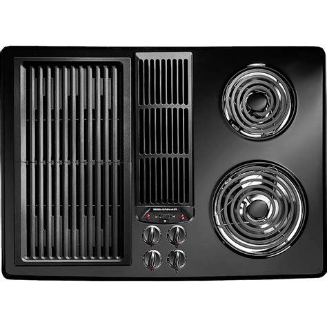 jenn air cooktop jed8130adb jenn air 30 quot downdraft electric cooktop black
