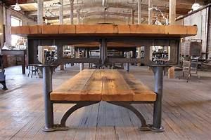 Vintage Medical Charts Vintage Industrial Cast Iron Leg Reclaimed Wood Plank