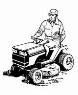 Mower Lawn Coloring Pages Farm Tractor Mowing Clipart Equipment Riding Clip Tractors Mowers Cartoon Colouring Cliparts Machinery Farmer Man Cartoons sketch template