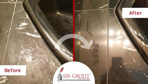 this homeowner was thrilled to see black marble