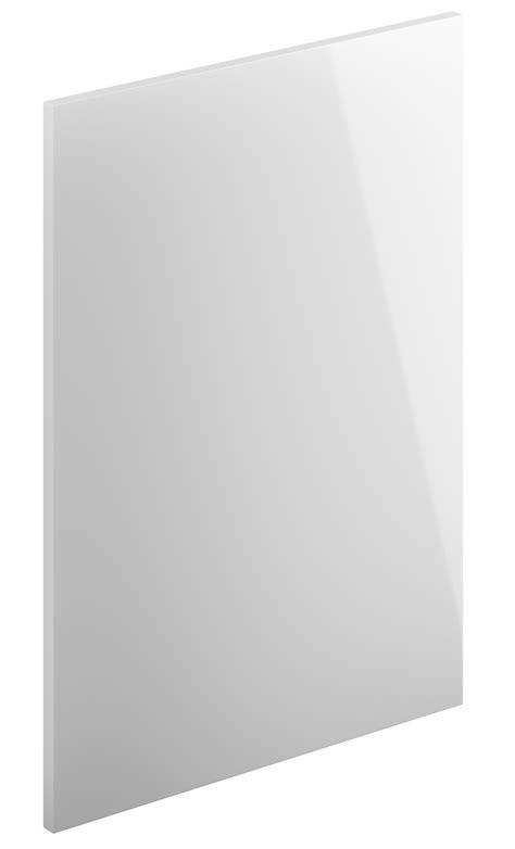 White High Gloss Slab Kitchen Doors Replacement Gloss