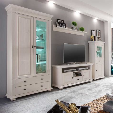 Wohnzimmer Komplett Günstig by Luxury Design Wohnwand Landhaus Kashmir Wohnzimmer
