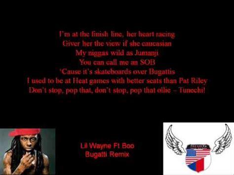 Ok, niggas be hating i'm rich as a bitch. Lil Wayne ft Boo - Bugatti remix (lyrics) - YouTube