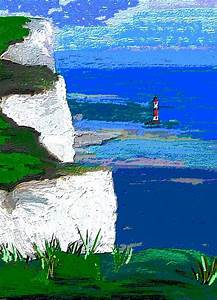View From The Cliff Edge Painting by Karen Harding