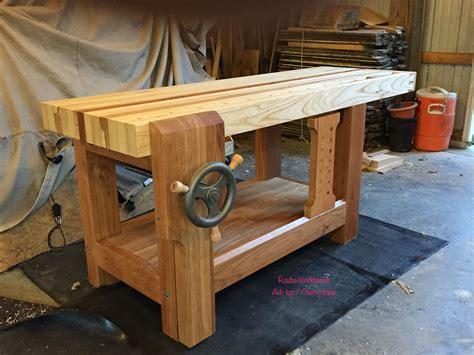 roubo workbench cherry base  ash top