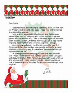 letter from santa for baby39s first christmas With original letter from santa