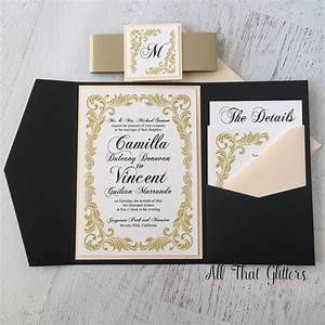camilla vintage wedding invitation suite all that With black white and blush wedding invitations