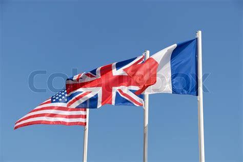 nationale fahnen von grossbritannien den stockfoto